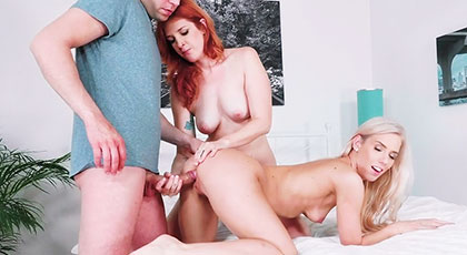 Nesty e Irina Vega en un trío con su mejor amigo