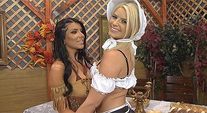 Fantasía con dos chicas disfrazadas