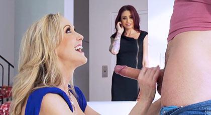 Brandi Love invita a Monique Alexander a participar en un trío con su hijastro