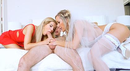 Bella Rose y su madrastra Brandi Love se relajan antes de la boda de su padre