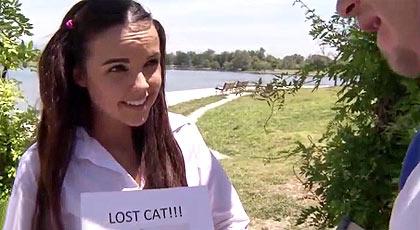 Dillon busca a su gatito.