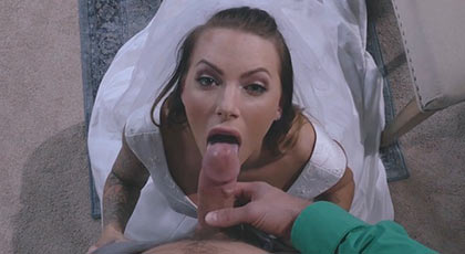 Follando duro con la novia la noche de bodas